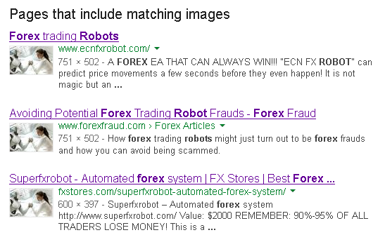 Google image search forex robot