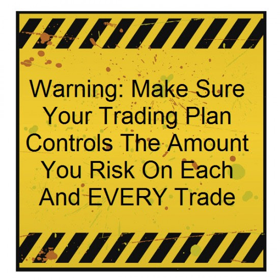 yellow sign warning to make sure every forex trade you place has controlled risk