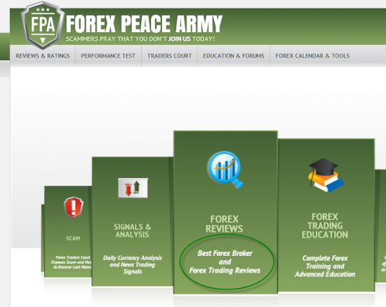 Forex Peace Army review site