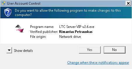 Software signed by Comodo security certificate says it comes from Verified publisher Rimantas Petrauskas.
