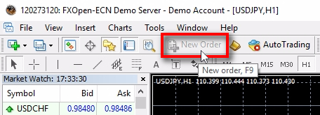 ;Another way to know if you are logged in with investor password or main password is to look at the top toolbar where the New Order button is located. In investor mode, this button is disabled.