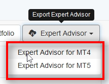 Note: If you are using MT5 trading platform, you should export MT5 format.