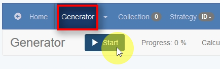 Start the EA Generator I have set all the necessary settings, and now I am ready to start the EA Generator.